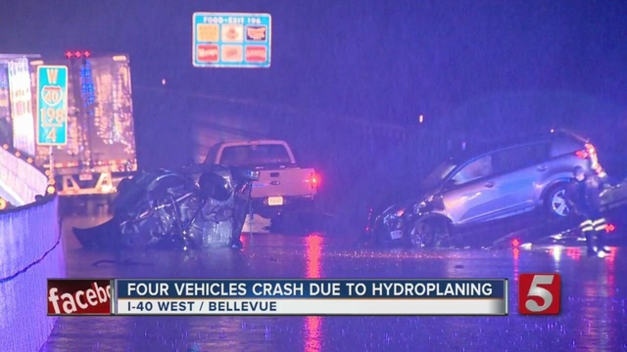 1 Injured In Hydroplaning Crash On I-40