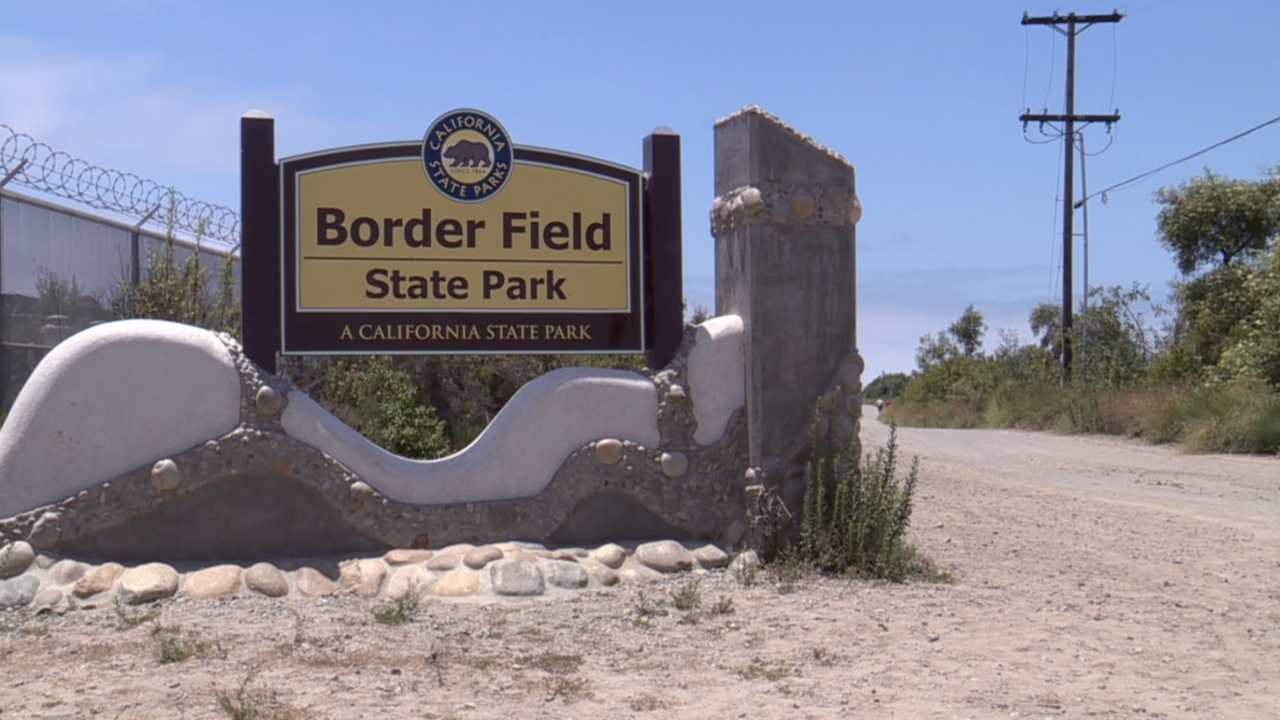 border field state park sign
