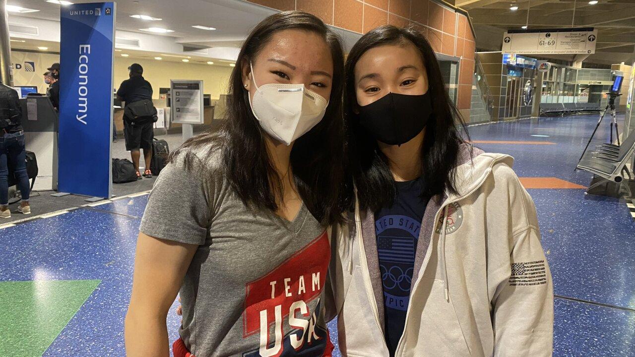 Kara Eaker and Leanne Wong