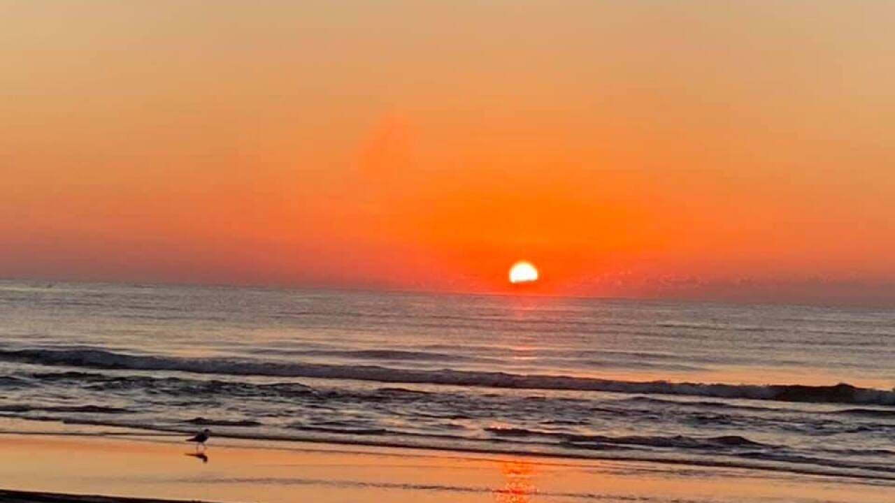Sunrise on the Gulf Beach - Photo By: FB Coastal Bend Weather Watcher Bill Peace