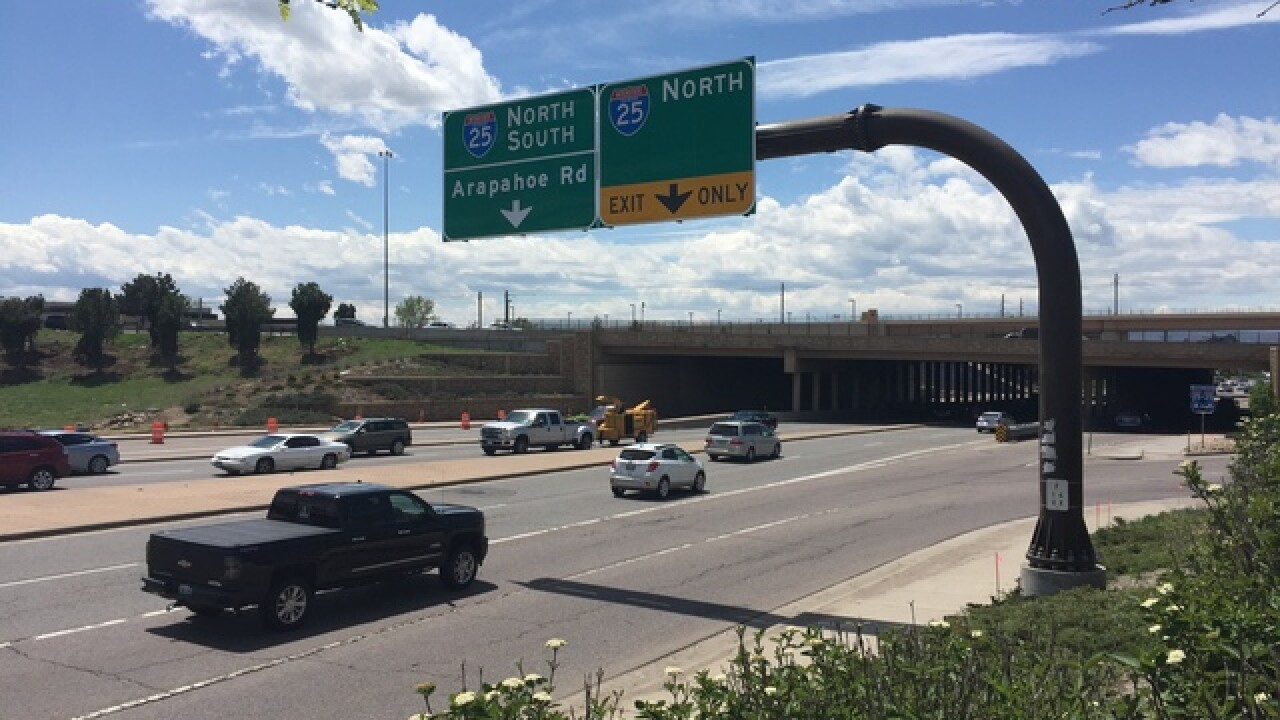 I-25 and Arapahoe Rd. construction begins Monday