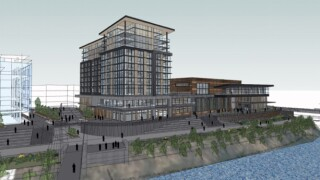 The design of a $100 million hotel and events center planned in downtown Missoula continues to evolve. After final design is complete, the developers expect to break ground in September. (Photo provided by Missoula Current)