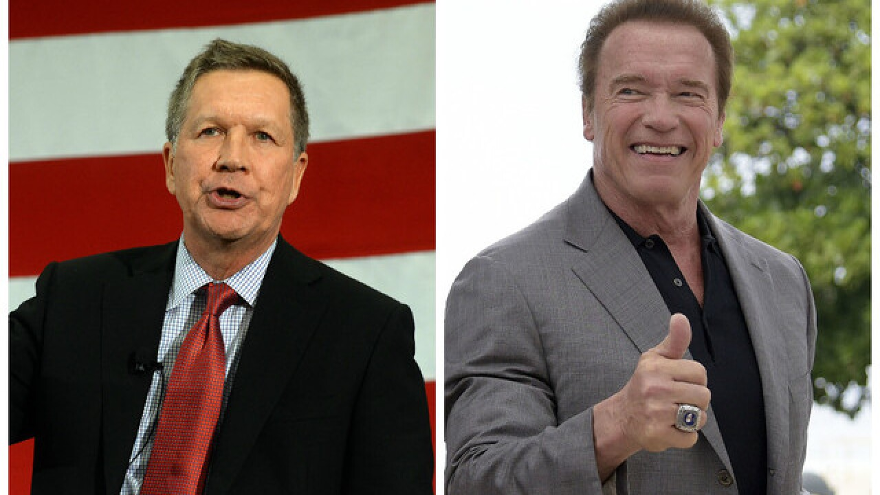 Schwarzenegger endorses Kasich ahead of Ohio run