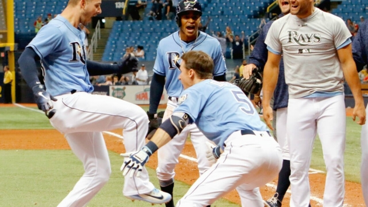 Rays player hits walk-off, then visits hospital