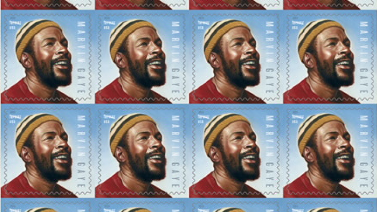 Marvin Gaye honored by USPS on 80th birthday with commemorative stamp