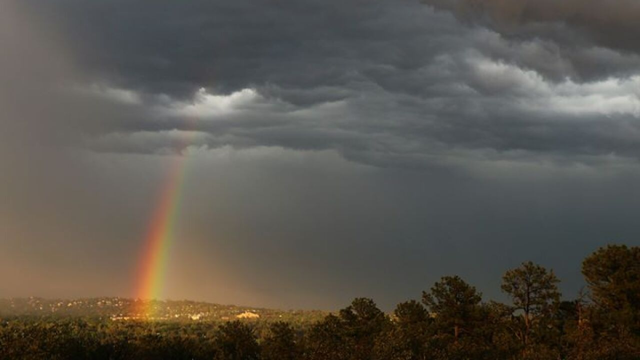 Rainbow over Colorado Springs