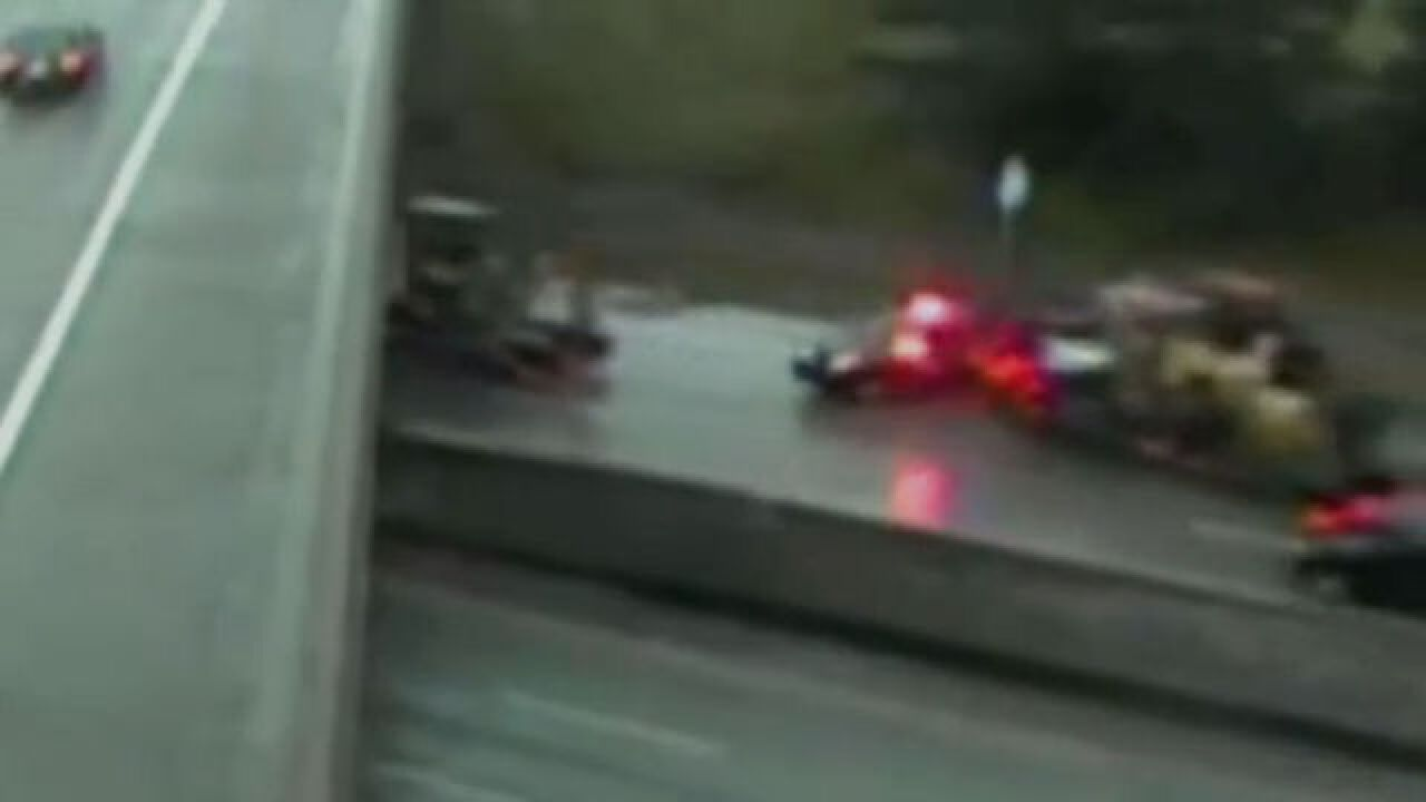 VIDEO: Semi truck slams into MSP trooper