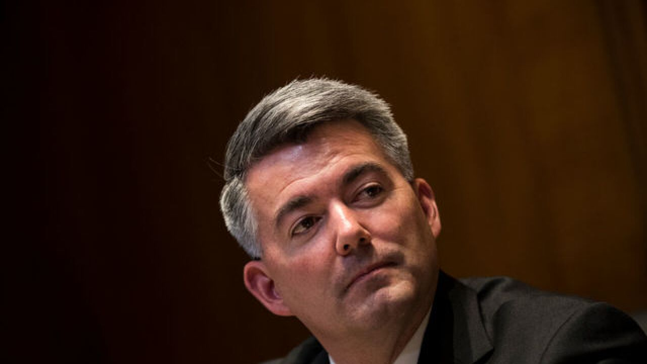 Sen. Cory Gardner says Trump has reassured him Colorado's legal marijuana programs are safe