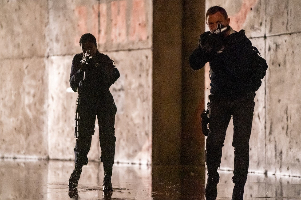 Daniel Craig and Lashana Lynch in 'No Time to Die'