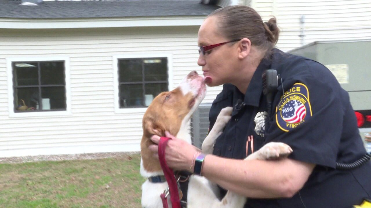 Williamsburg Police Officer gives shelter dogs second chance at life