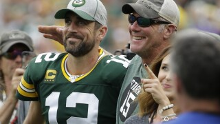 'I think he'll play somewhere else': Brett Favre says Aaron Rodgers will leave Packers before he retires