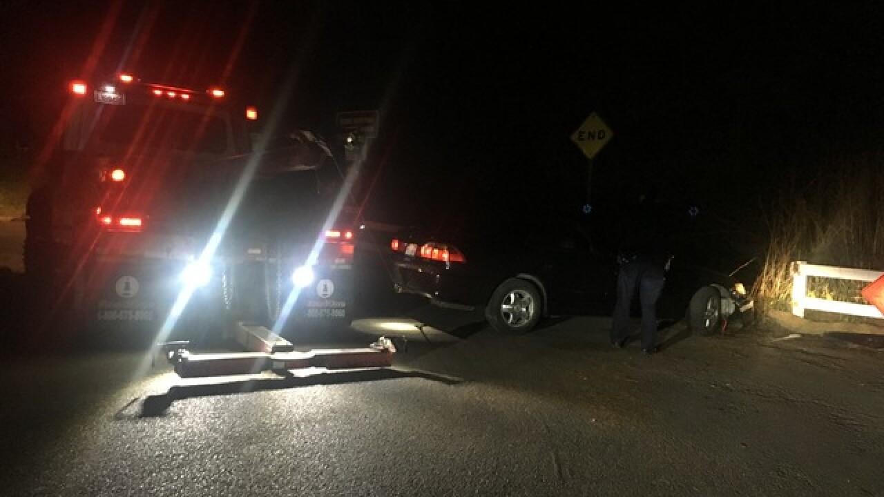 Man evades police, crashes into dead end fence