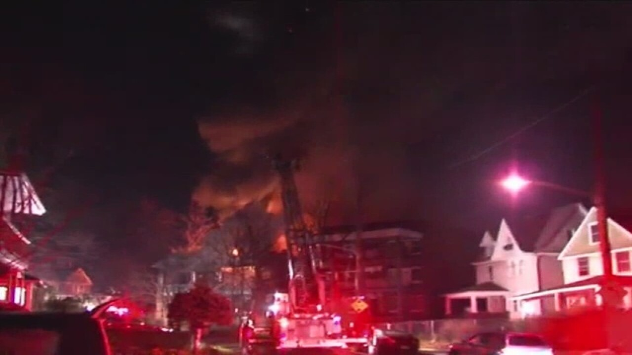 Building goes up in flames on East 125th Street