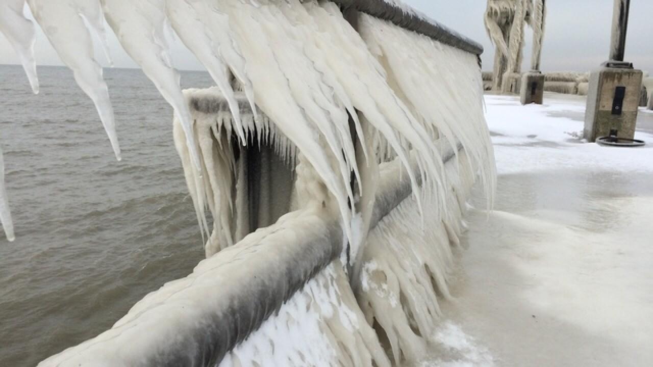 PHOTOS: Ice sculptures on Lake Erie shore