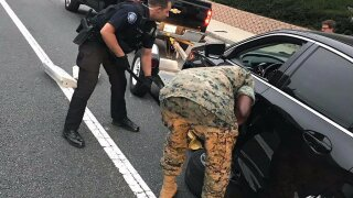 Paying it forward: Laguna Beach police officers pay to have Marine's car towed to Camp Pendleton