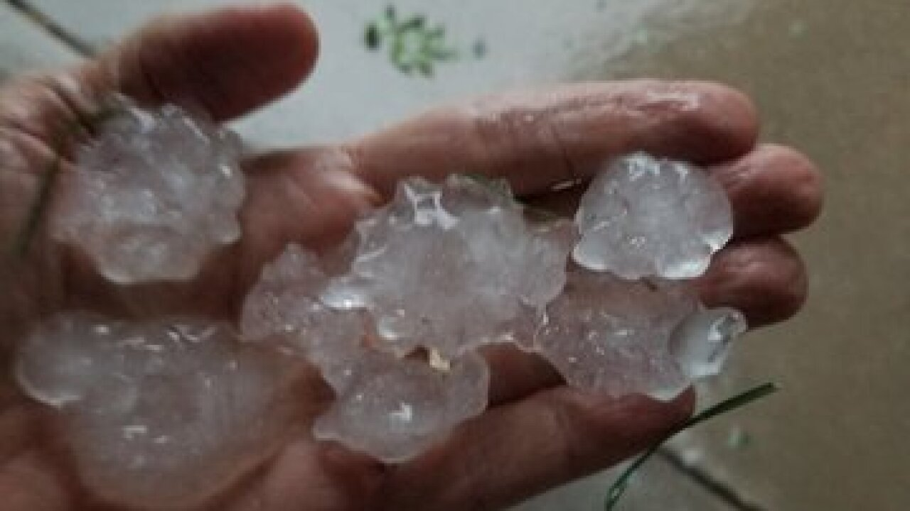 Ping pong sized hail found in York