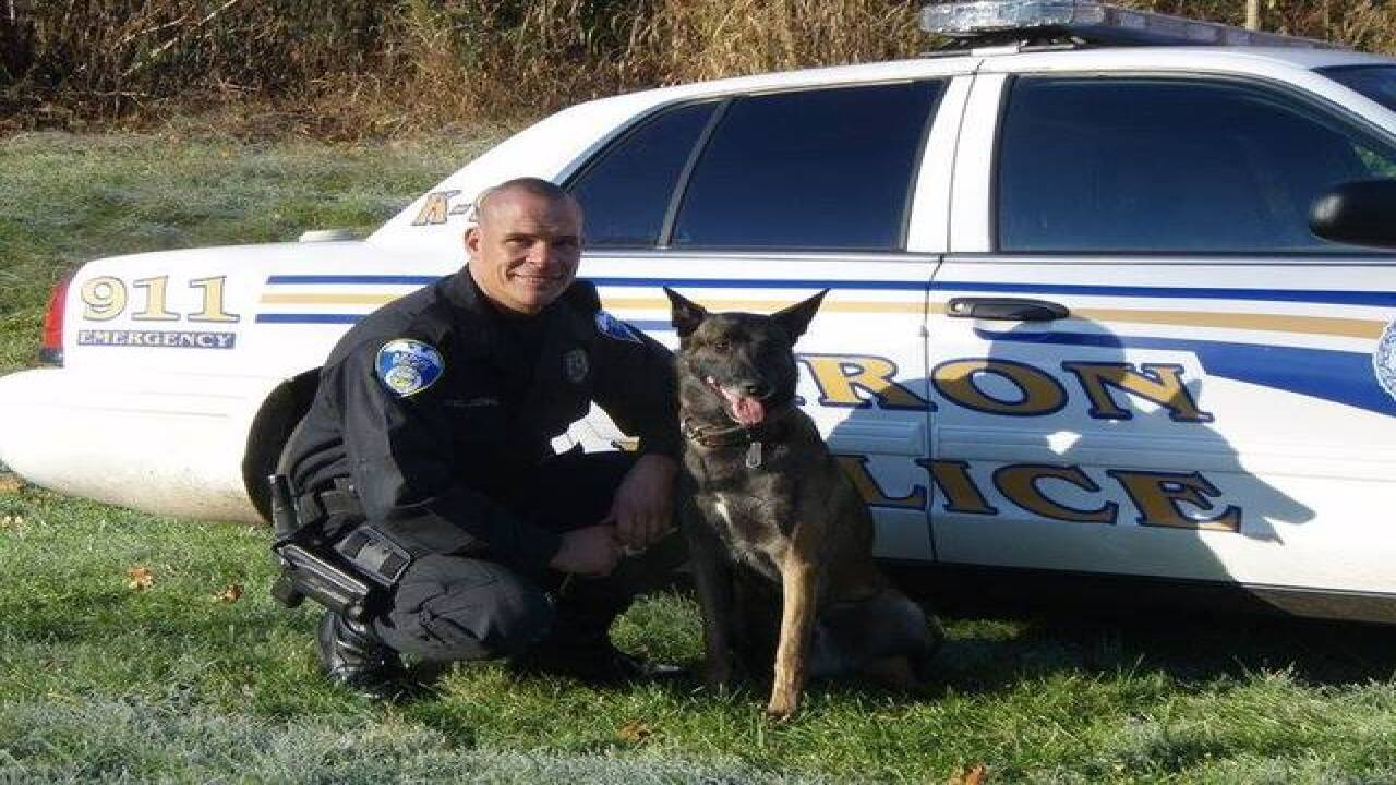 Akron police mourn loss of K-9 'Bronson'