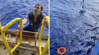 Missing Florida boater found clinging to capsized boat