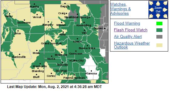 NWS_Aug 2 2021 flash flood watch map