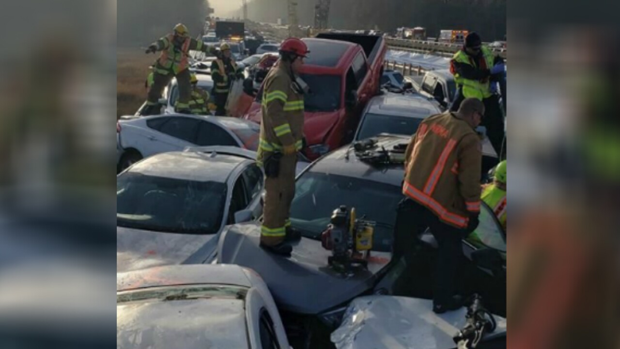 69 vehicles involved in chain-reaction crash that closedI-64