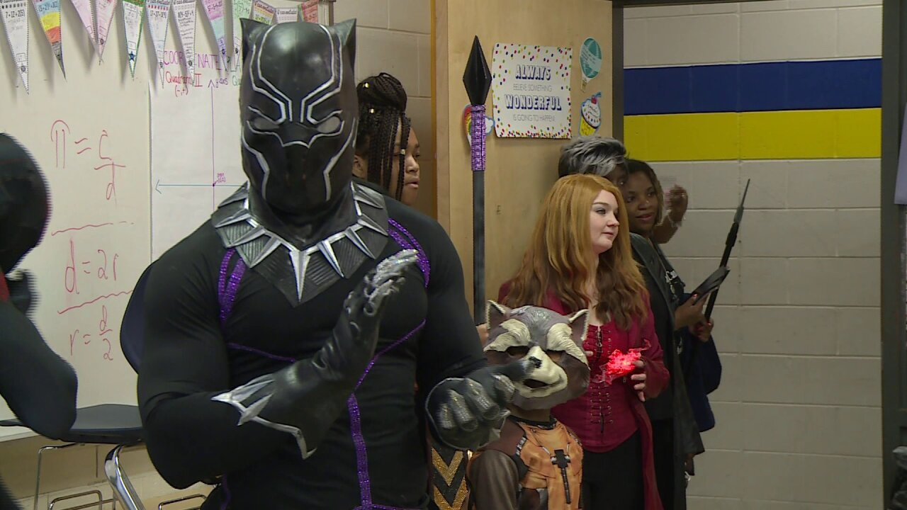 Superheroes surprise Richmond students