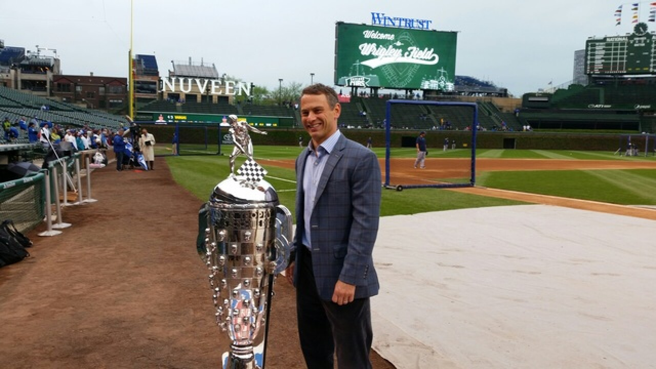 PHOTOS: Borg-Warner Trophy at Wrigley Field