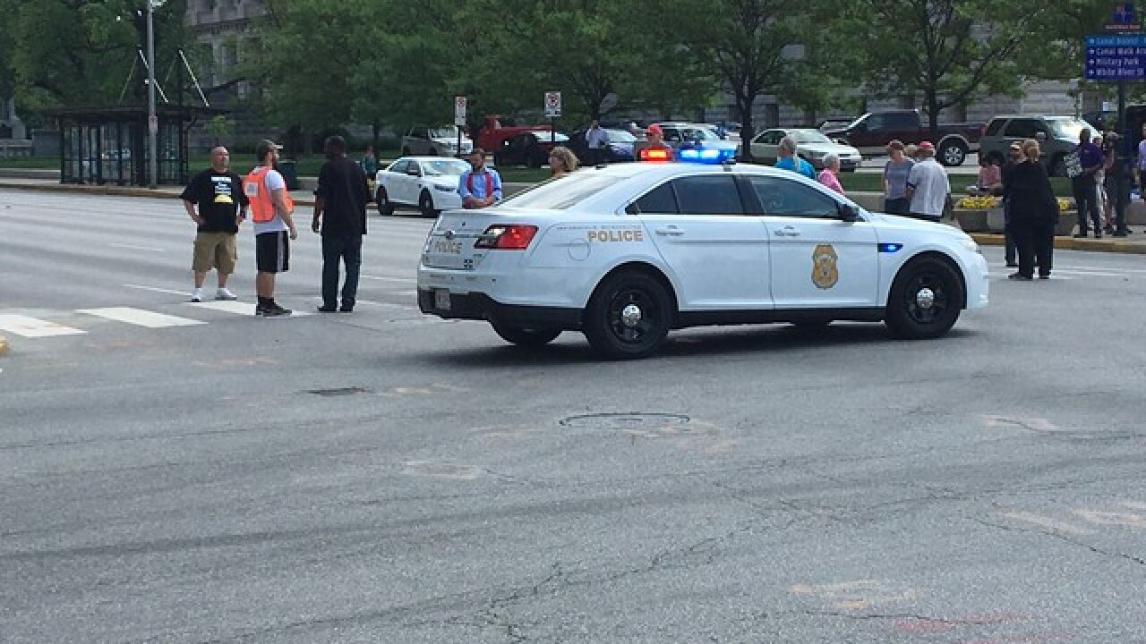 Protesters block traffic in downtown Indy