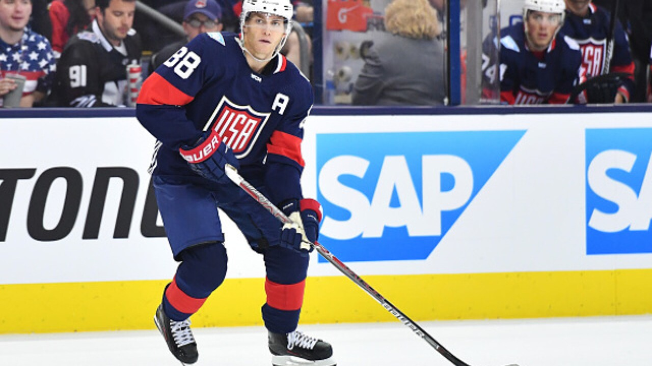 7abcfcf28 United States beats Canada in World Cup of Hockey exhibition