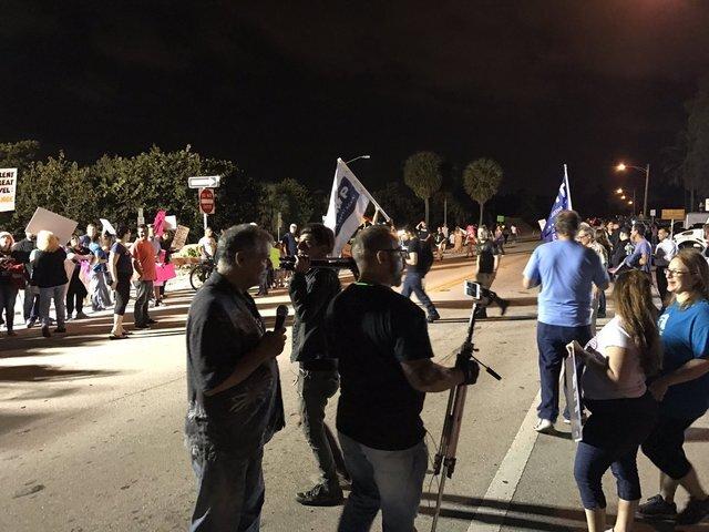 PHOTOS: Thousands march near Mar-a-Lago to protest President Trump
