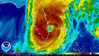 Hurricane Wilma satellite image