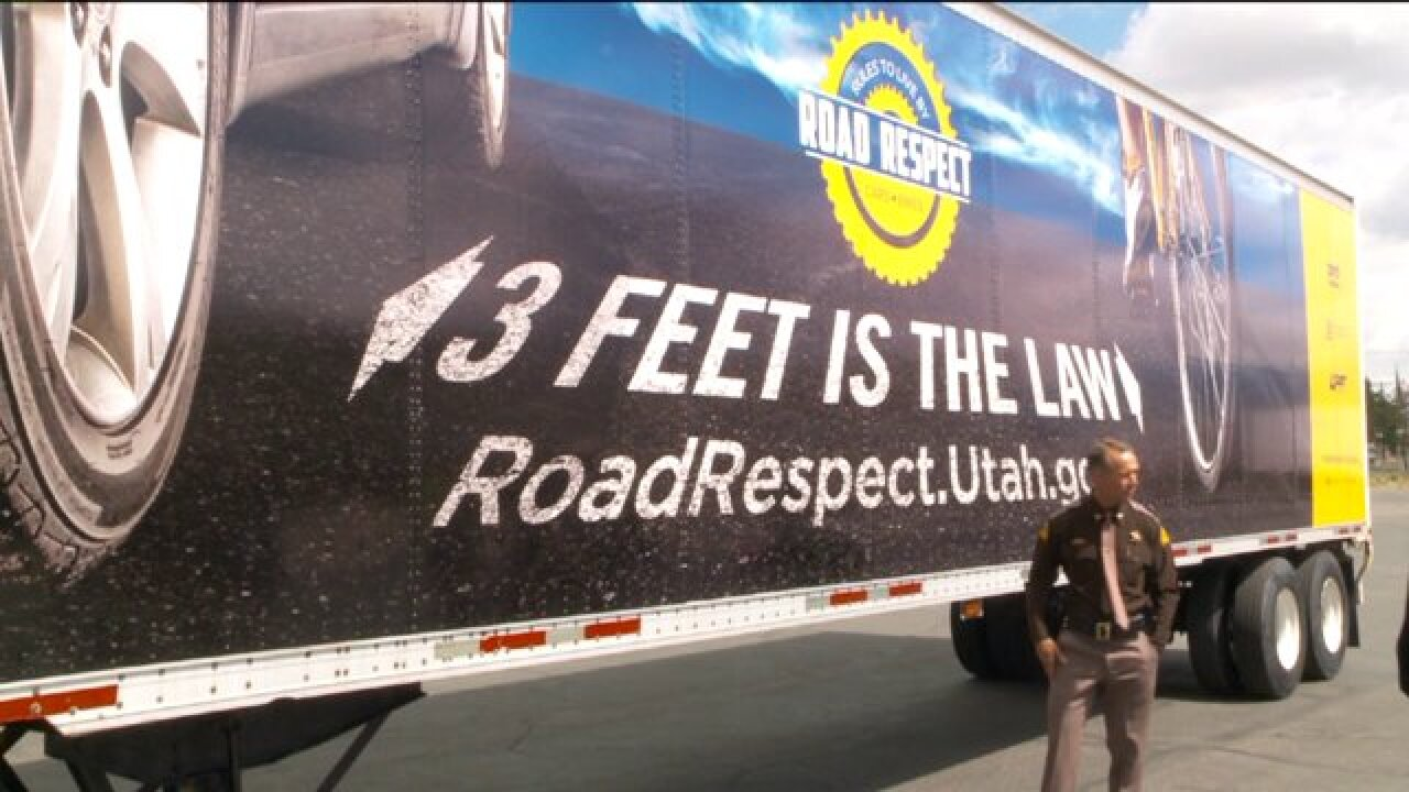 'Moving billboards' on Utah roads promote cyclistsafety