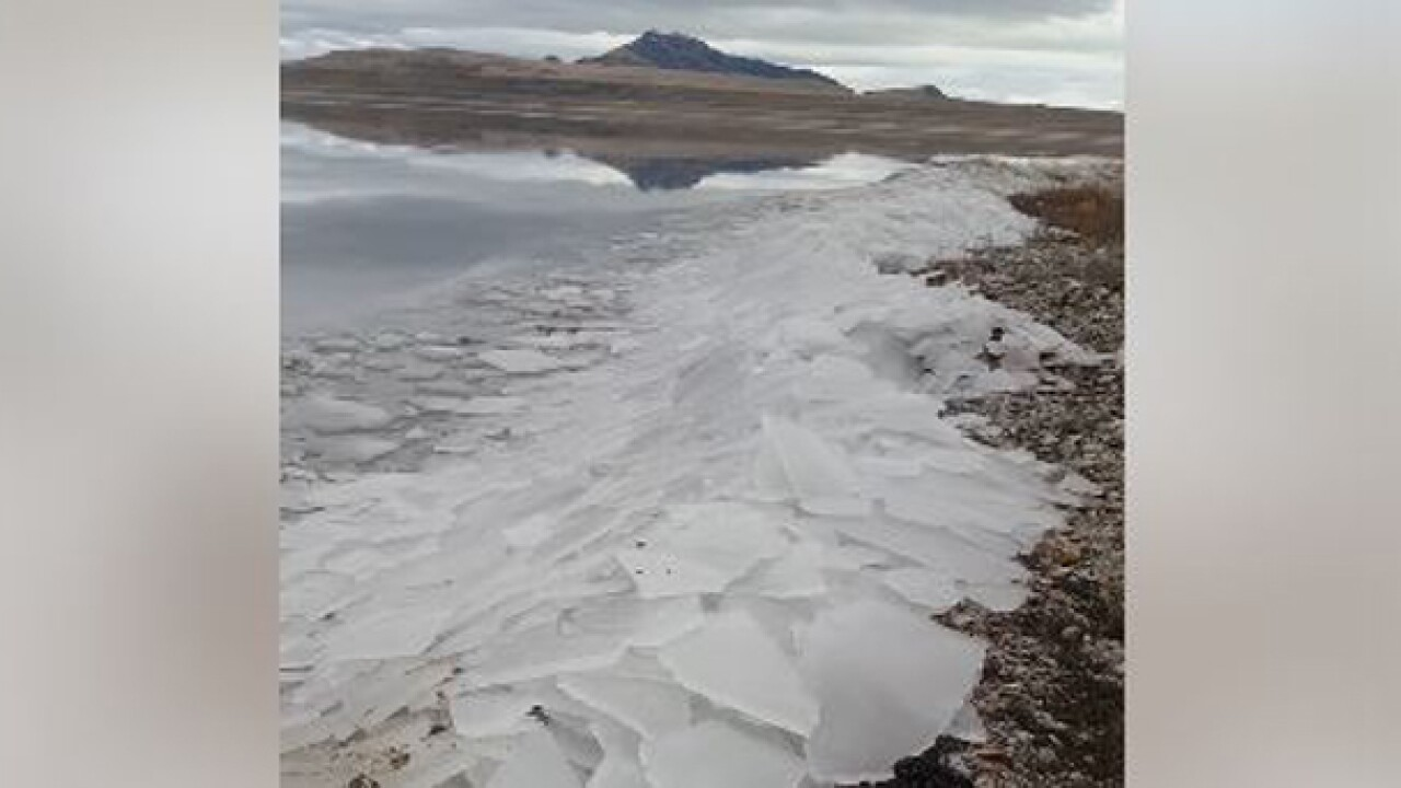 Video of unusual ice activity at Antelope Island State Park amasses thousands of views