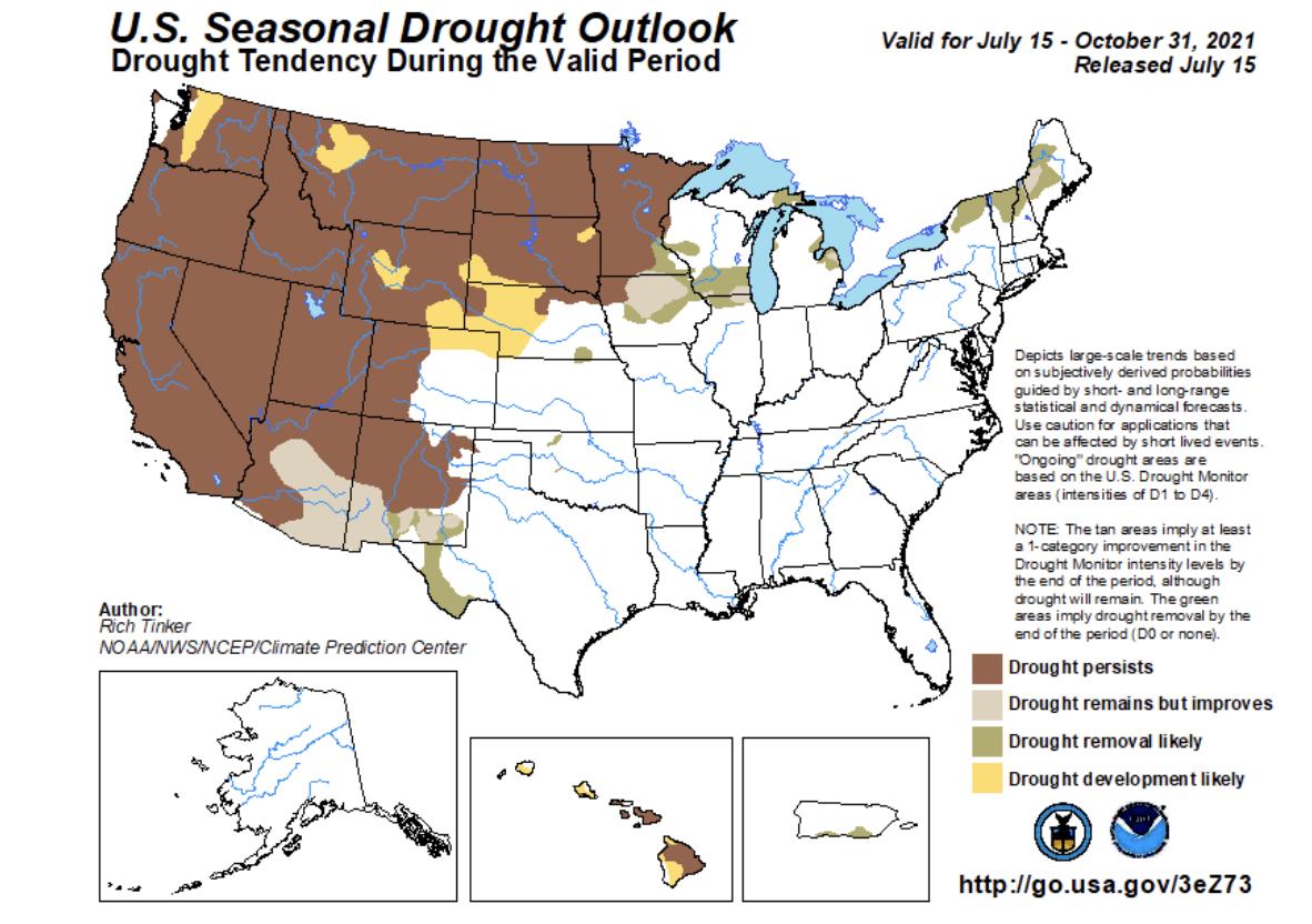 US Seasonal Drought Outlook