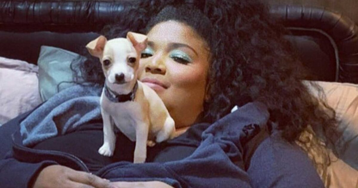 Lizzo adopts a rescue puppy after her show in Madison