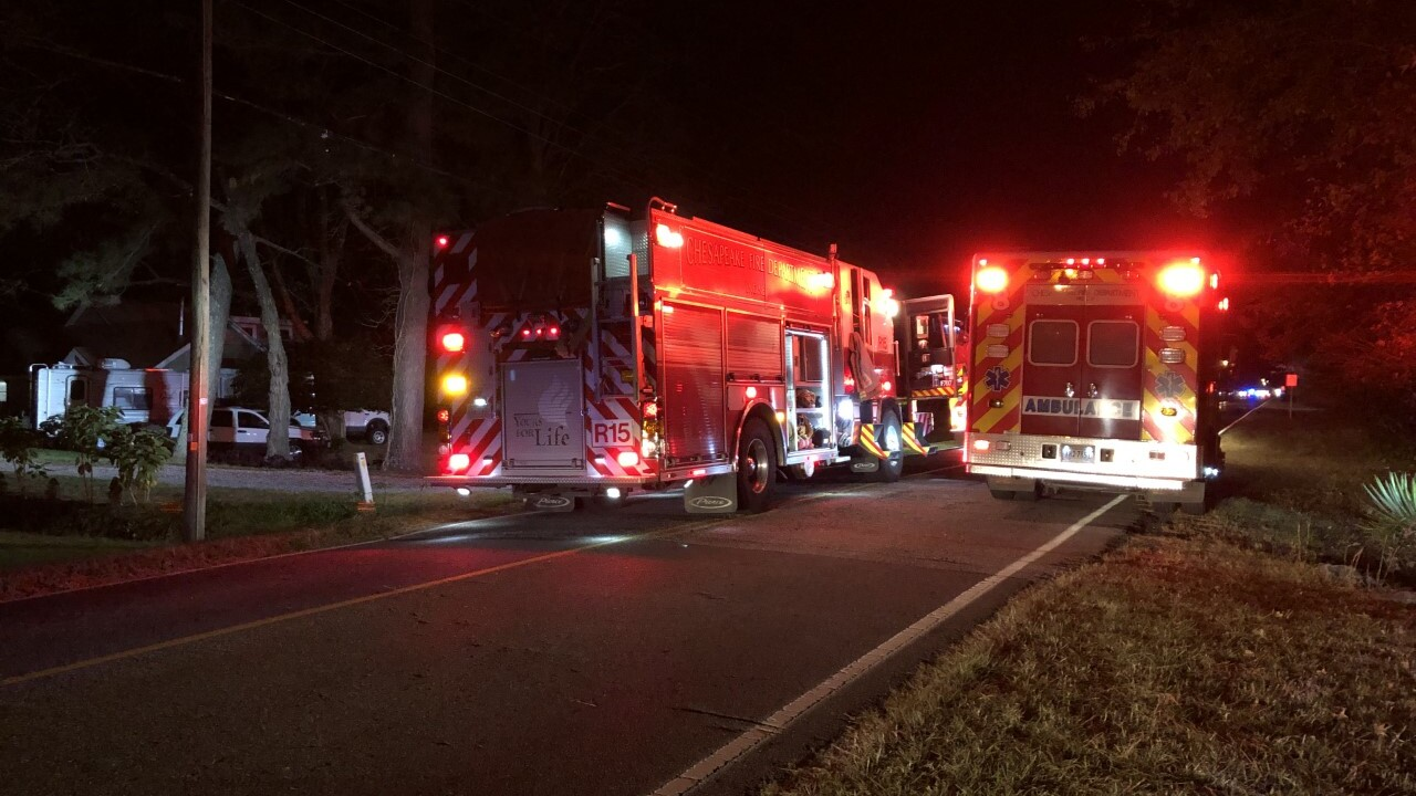Crews respond to shed fire inChesapeake