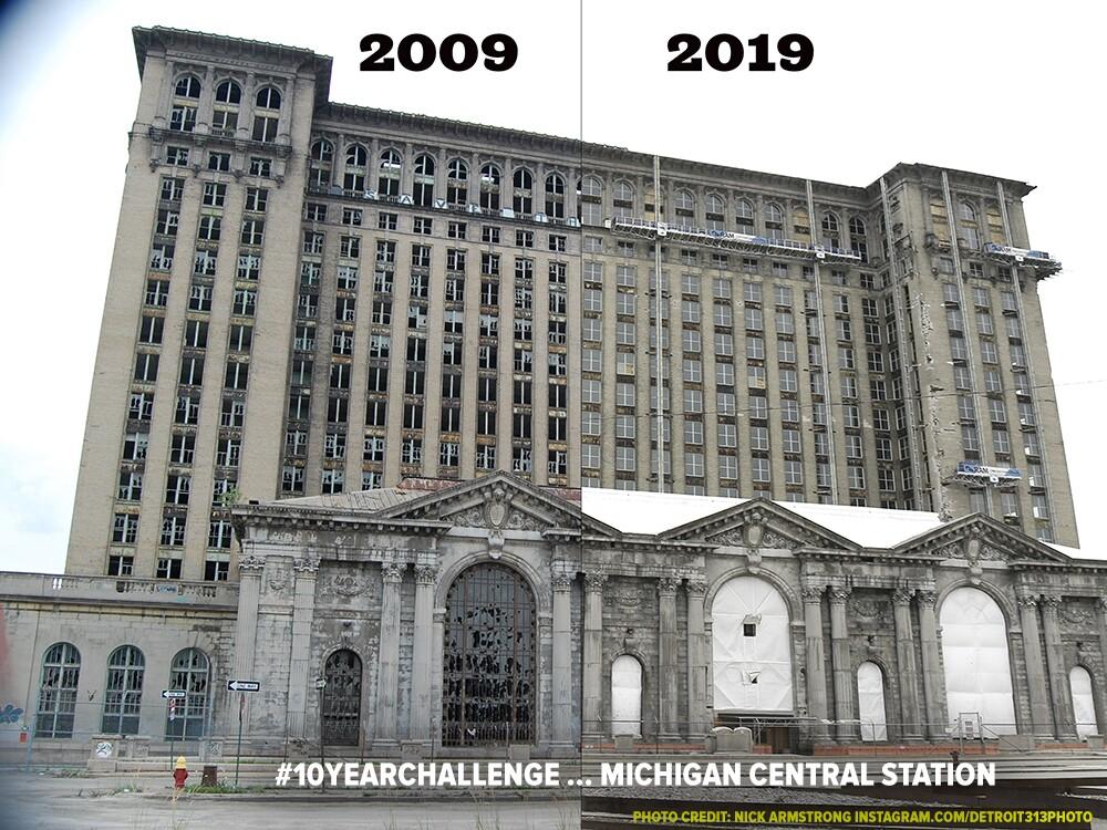 Detroit 10 year challenge