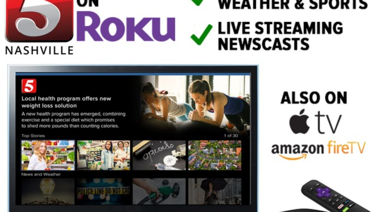Watch NewsChannel 5 on Roku, Amazon Fire TV, and Apple TV