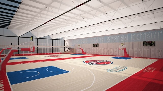 PHOTO GALLERY: Detroit Pistons, Henry Ford announce new practice facility in New Center