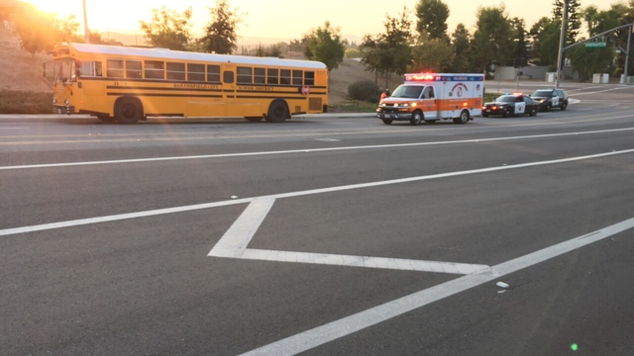 School bus and vehicle collide