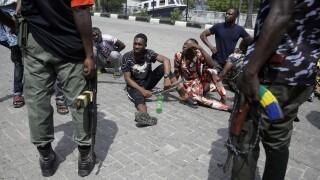 APTOPIX Nigeria Police Protest