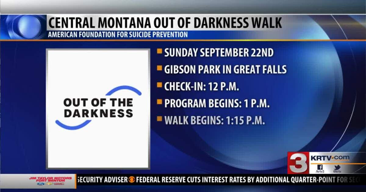 """""""Out Of The Darkness"""" suicide prevention event is on Sunday"""