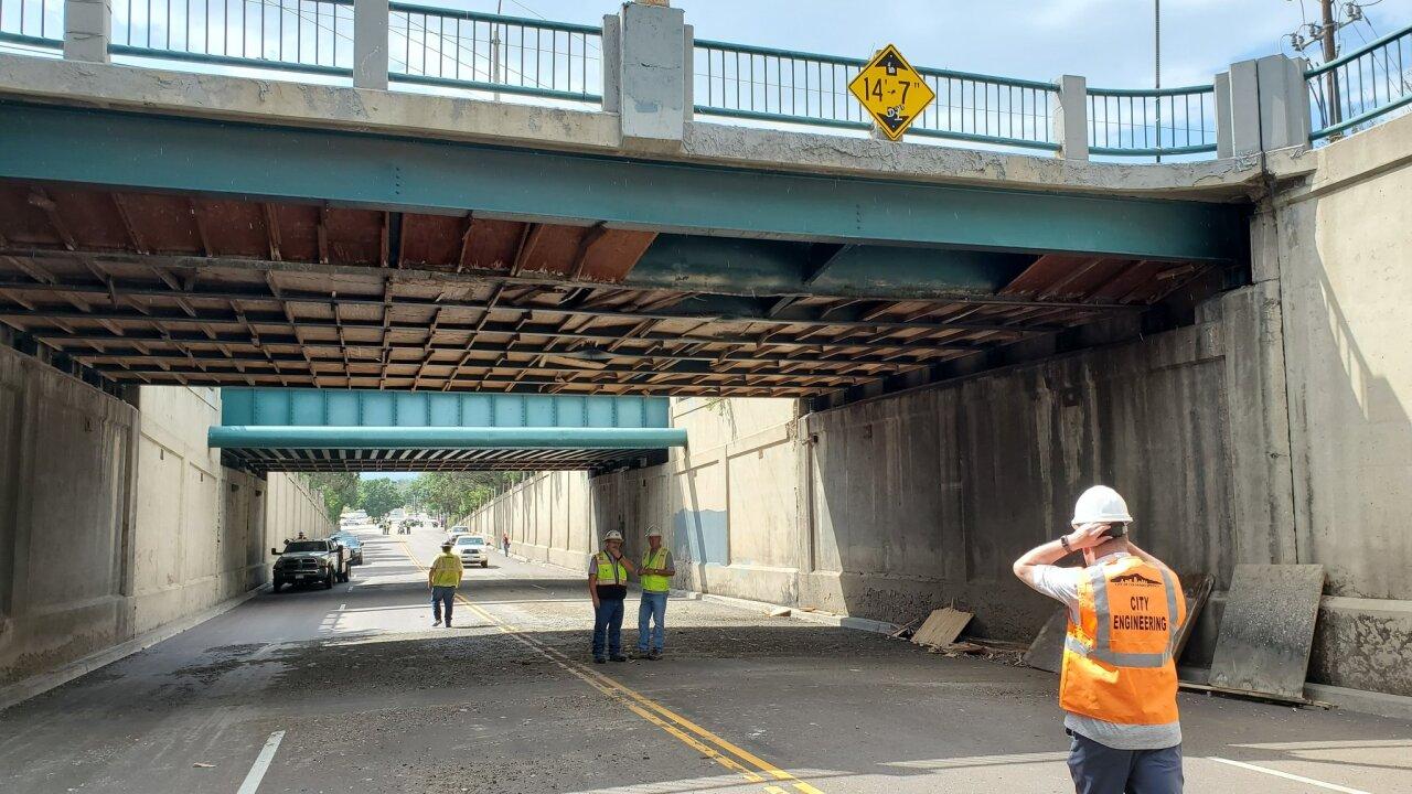 Platte Ave bridge damage