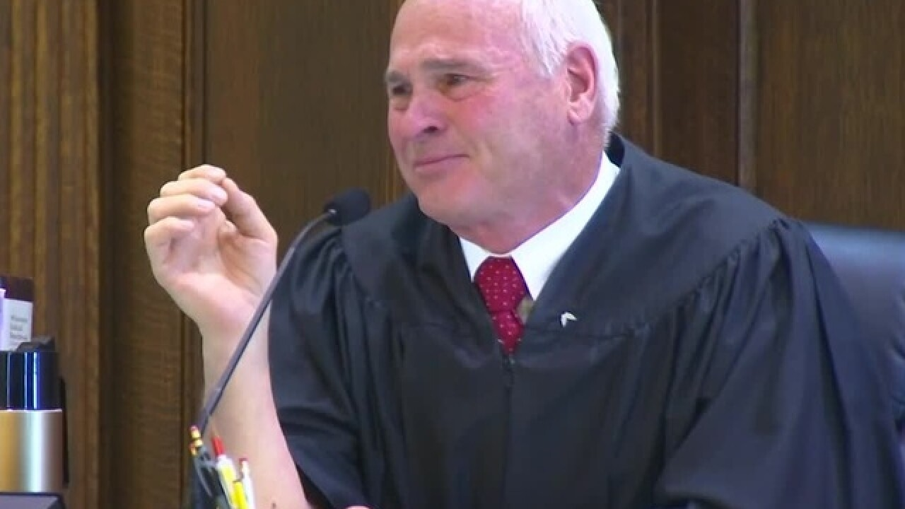 Judge emotional during fatal crash sentencing