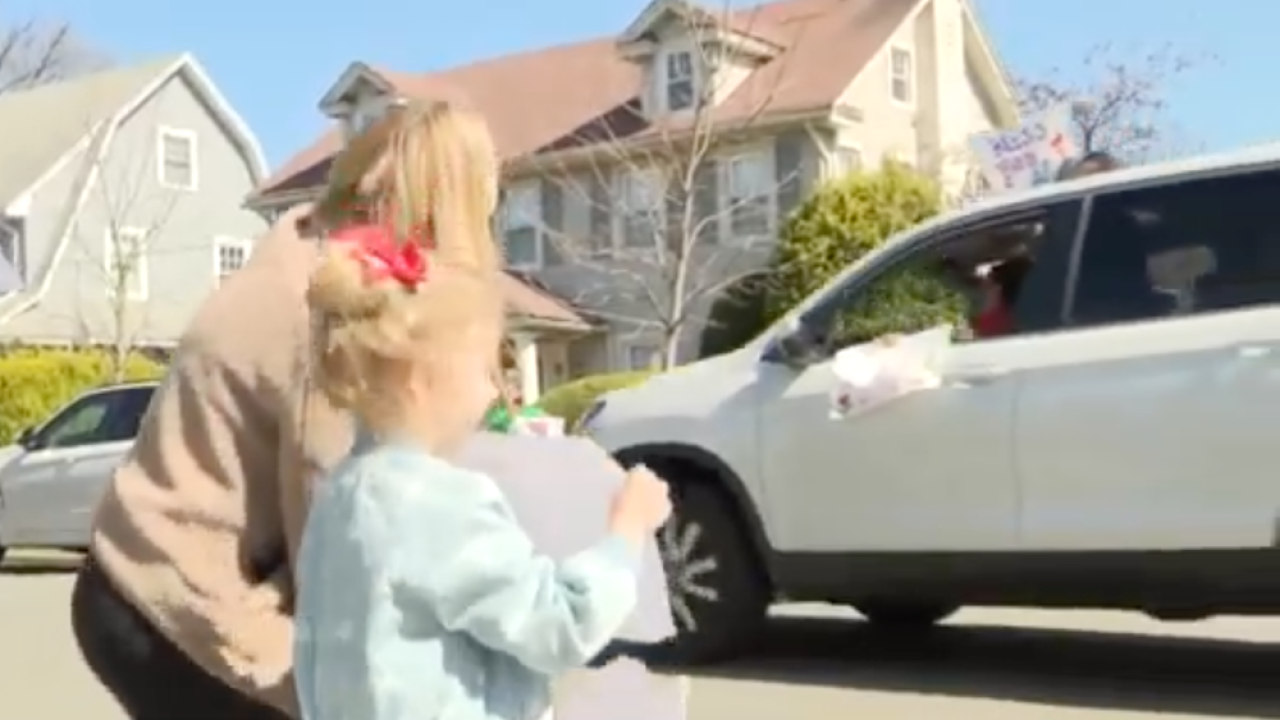 New York preschool teachers hold 'social distant parade' so they can say hi to their students
