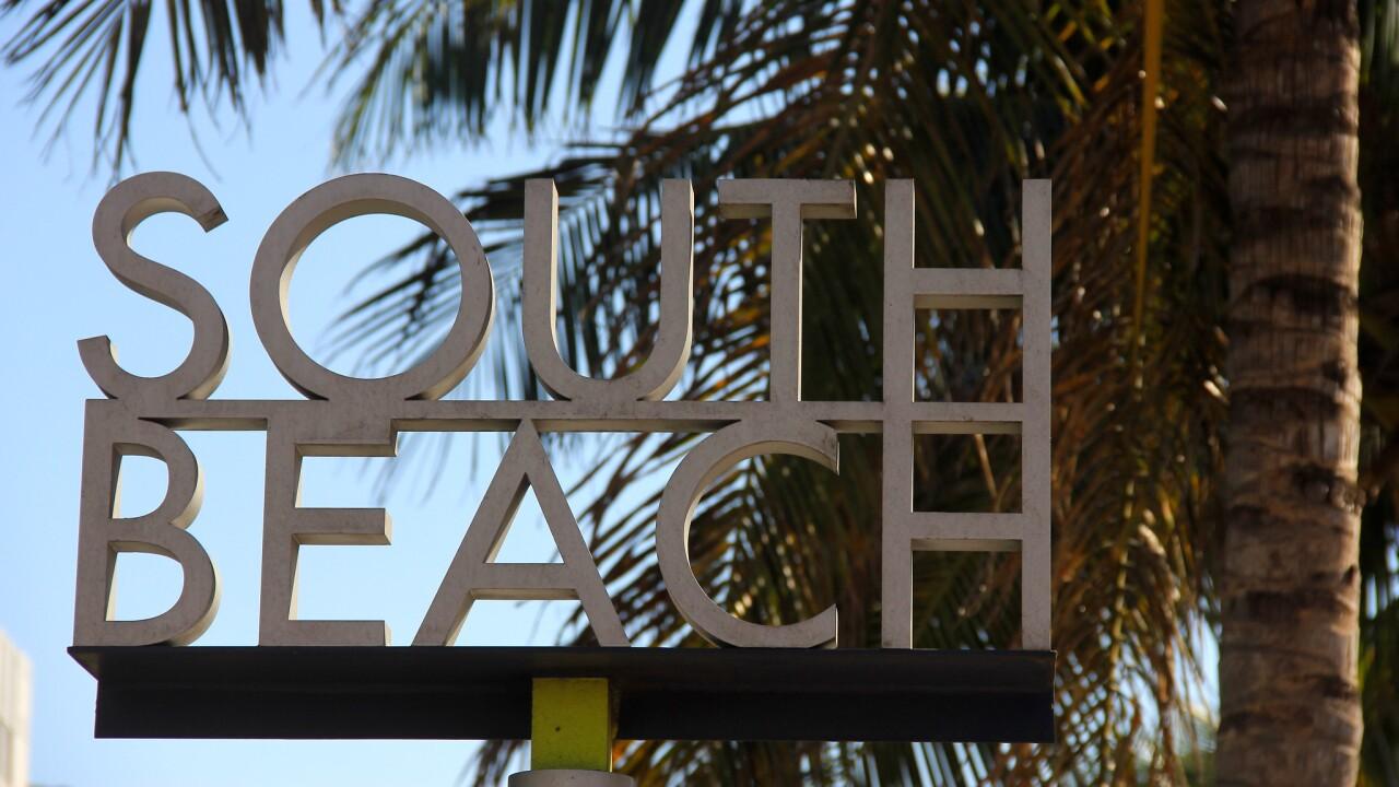 South Beach Miami sign