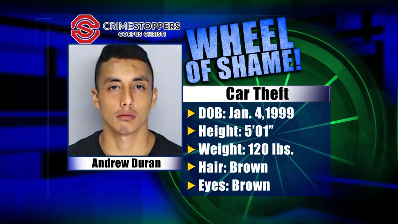 Wheel Of Shame Fugitive: Andrew Duran
