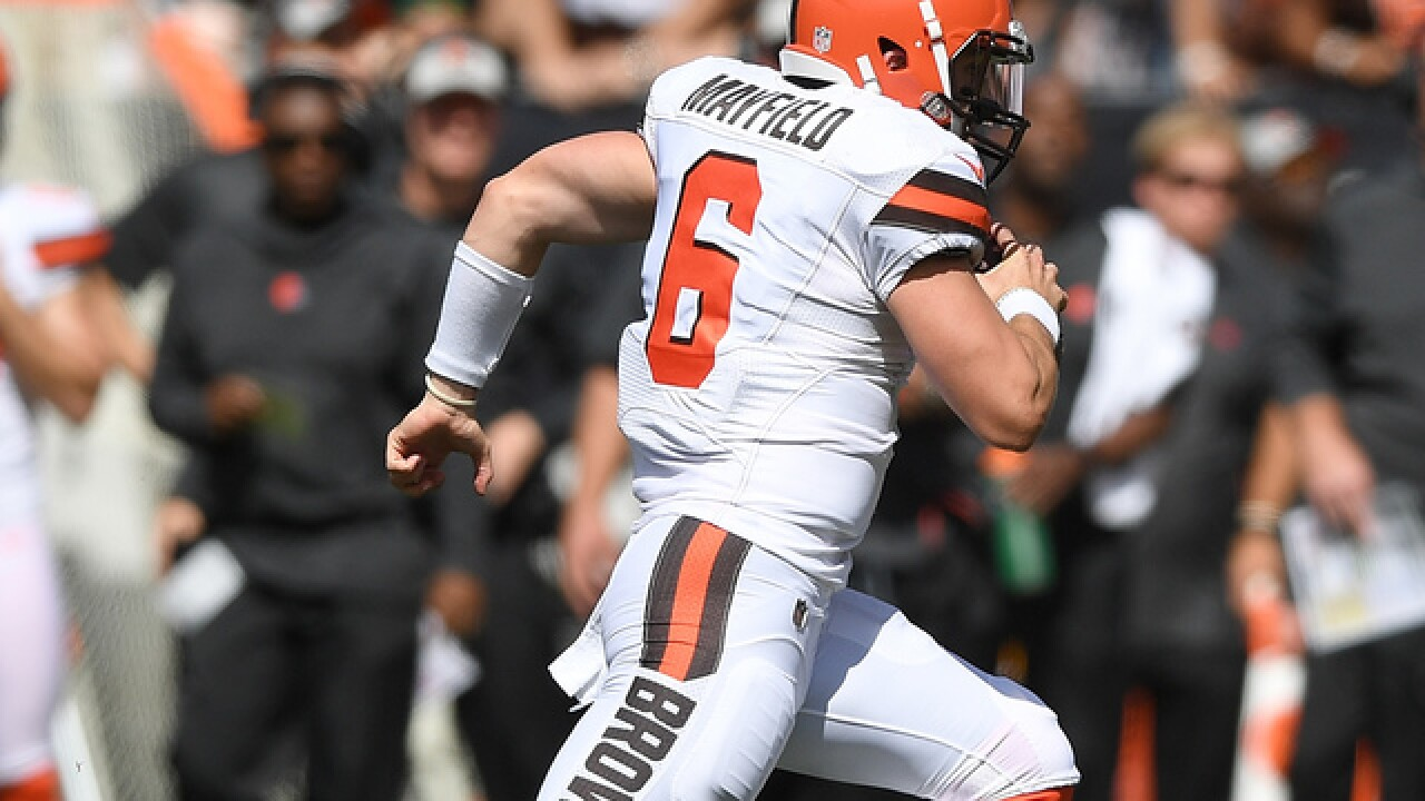Mayfield's 4 turnovers mar promising 1st start for Browns