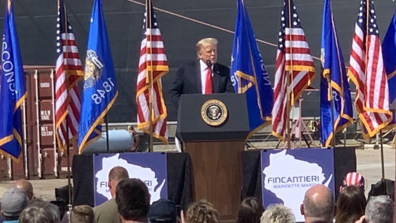 President Trump visits Marinette