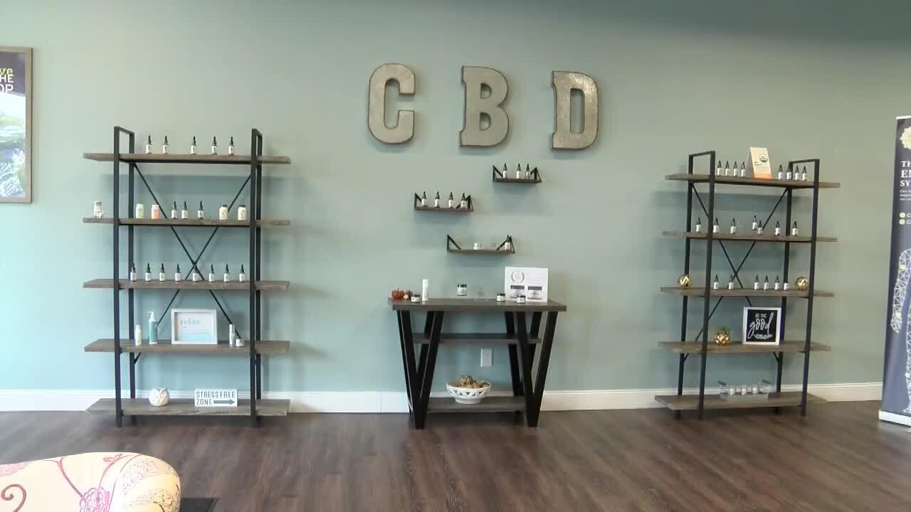 CBD sign at store in Boynton Beach