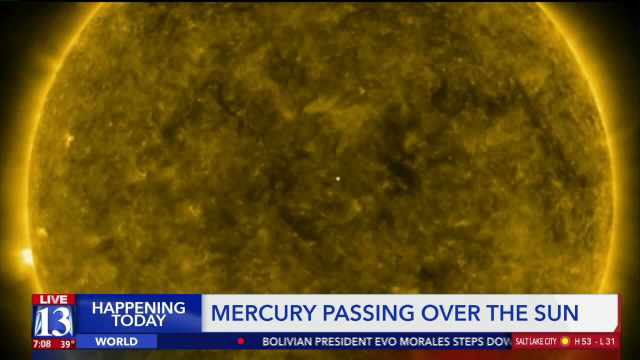 Antelope Island hosts watch party as Mercury passes across the sun Monday